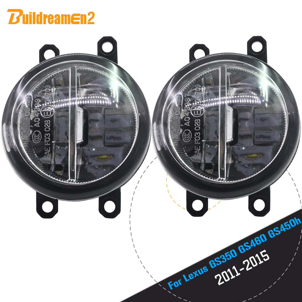 Buildreamen2 For 2011-2015 <font><b>Lexus</b></font> <font><b>GS350</b></font> GS460 GS450h Car Accessories 4000LM LED Bulb Front Fog Light DRL Daytime Running Lamp 12V image