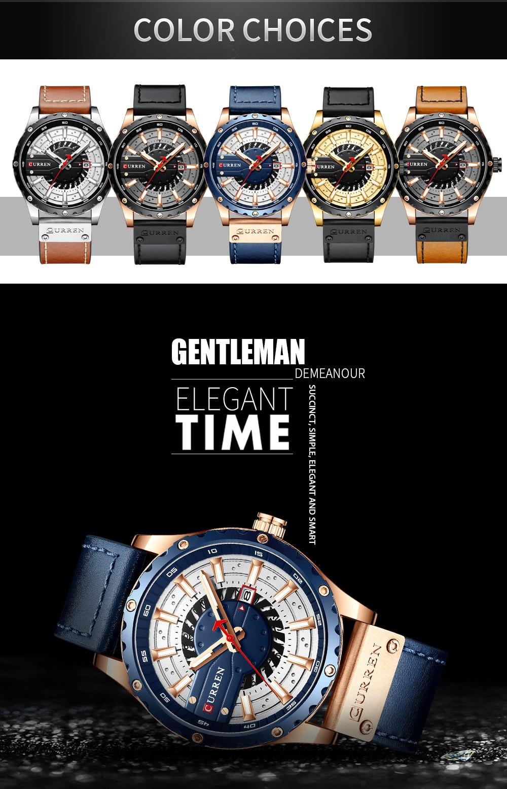 H95617a1b42ff4f2e8e06b511af1e457ce CURREN Watch Wristwatch  New Chic Luminous hands