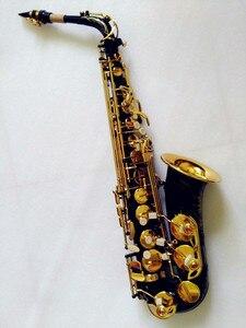 Image 3 - Vendita calda sassofono nero contralto ottone incisione modalità oro nero Sax strumenti musicali sassofono contralto professionale e custodia