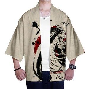 Image 4 - Japanese kimono Inuyasha Mens Womens Wear 3D Kimono Traditional Clothing Fashion Popular Family Casual Wear Comfort Tops
