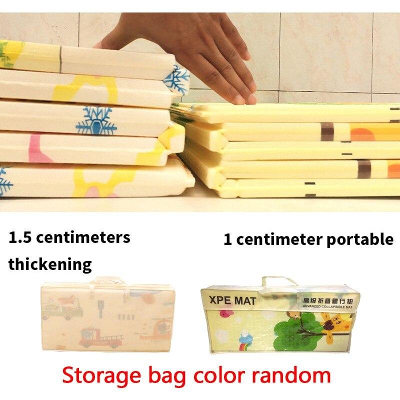 200*180cm pliable dessin animé bébé tapis de jeu enfants ramper Pad Puzzle antidérapant jeu tapis 1.5cm épaissi tapis de jeu