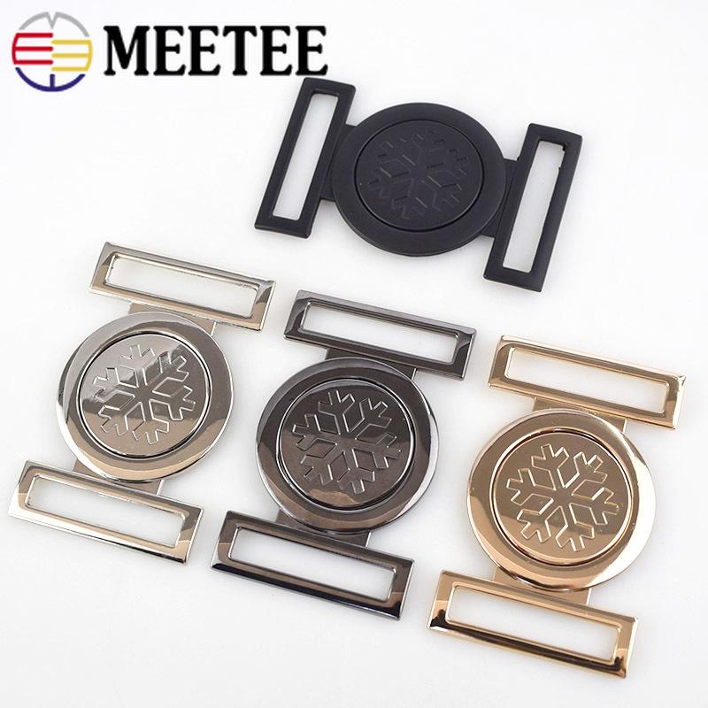 2/4pcs Meetee 40MM Women Metal Belt Buckles Decor Handbag Hardware Buckle DIY Sewing Bags Clothing Coat Buttons Accessories