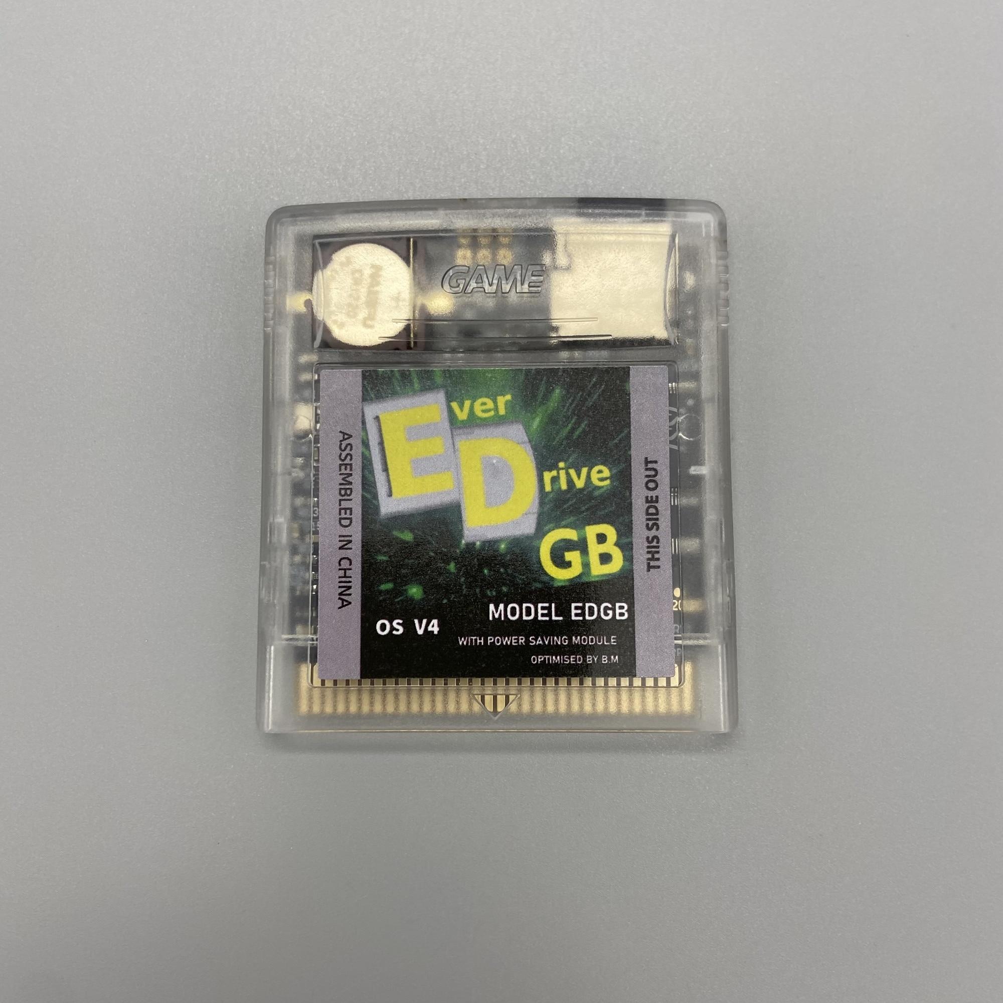 2750 jogos em um cartão de cartucho de jogo feito sob encomenda do everdrive os v4 edgb para gameboy-versão de economia de energia do console do jogo do gba de dmg gb gbc.