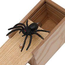 Dia dos tolos de abril presente de madeira brincadeira truque prática piada escritório em casa caixa de brinquedo medo mordaça aranha mouse crianças engraçado jogar piada presente brinquedo