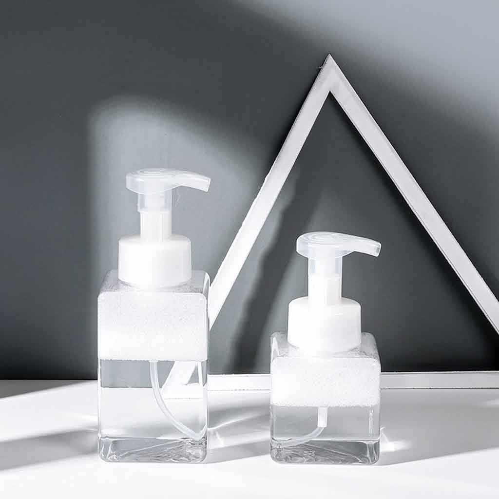 250ml/400ml Clear Foaming Bottle Liquid Soap Whipped Mousse Points Bottling Shampoo Lotion Shower Gel Foam Bottles