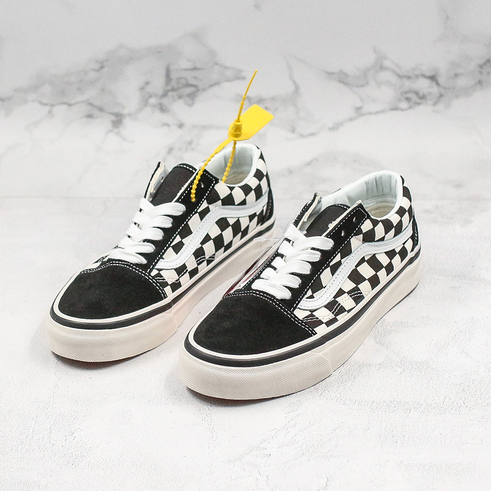 VANS PRIMARY CHECK OLD SKOOL Unisex Classic Checkerboard Skateboarding Shoes #VN0A38G2OAK Original Hot Selling