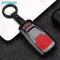 Чехол для ключей для Audi A1 A3 A4 B8 A5 A6 A7 A8 Q5 Q7 TT TTS Smart Remote Fob Protector Cover Keychain Bag Accessories