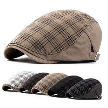 Винтажная плоская кепка для мальчиков, повседневная мужская одежда, кепка Newsy, кепка s, Весенняя Осенняя Кепка для мужчин, хлопковая кепка, шляпа в стиле Гэтсби, плоская кепка