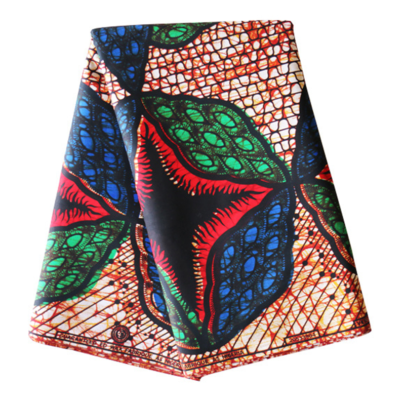 2019 Latest Arrivals African Fabric Pure Cotton Red Blue And Green Print Veritable Ankara Real Dutch Wax