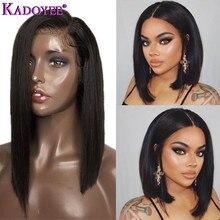 2019 seite Teil Spitze Front Menschliches Haar Perücken Brasilianische Remy Haar Gerade Kurze Lange Perücke mit Baby Haar Vor Gezupft für Schwarze Frauen