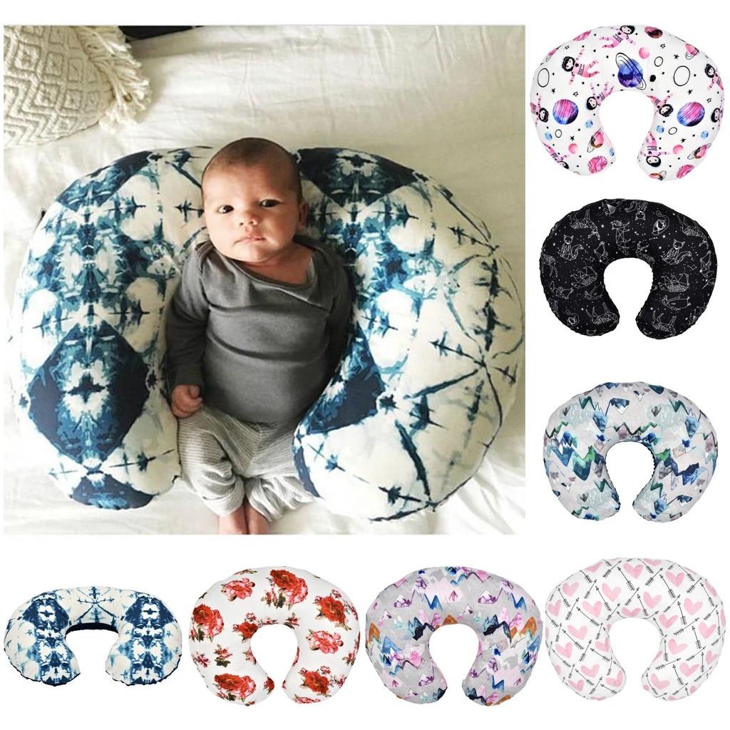 minky nursing newborn infant baby breastfeeding pillow cover nursing slipcover u shaped nursing pillow stitching velvet pillow