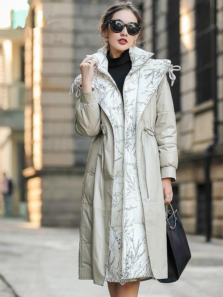 Jacket Leather Real Winter Coat Women Clothes 2020 Long Down Jacket Women Genuine Sheepskin Coat Chaqueta Mujer MY4730