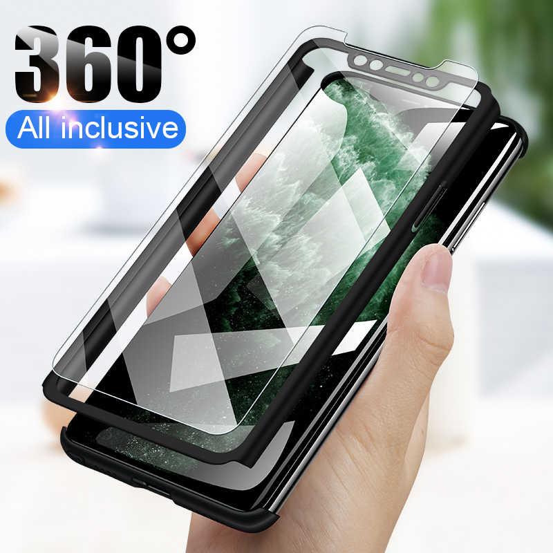 360 Full Cover Ốp Lưng Điện Thoại Samsung Galaxy S20 Cực S10 S9 S8 Plus S10E A10 A20 A40 A50 A71 a51 A70 Với Kính Cường Lực Trường Hợp