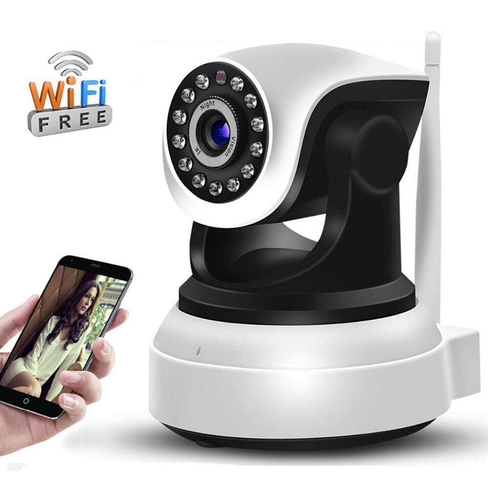 Wifi indoor cctv vigilância pan/tilt câmera sem fio em dois sentidos de áudio p2p noite visionhd 1080p câmera ip monitor do bebê camhi app