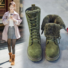 цена на SWONCO Luxury Fur Snow Boots Women Winter Warm Shoes Plush Fur 2019 New Female High Top Causal Shoes Lady Martin Boots For Woman