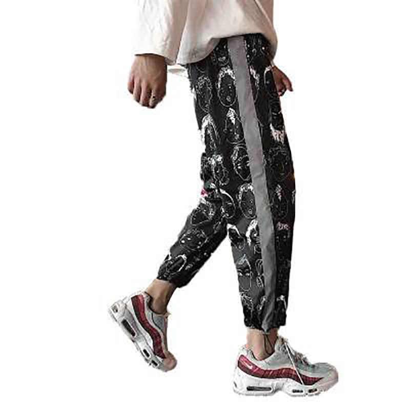 Reflecterende Plus Size Broek Vrouwen Mannen Hip Hop Harajuku Vrouwen Broek Streetwear Losse Gothic Koreaanse Mode Joggingbroek Womens