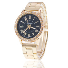 Top Men Watch Diamond Fashion Stainless Steel Watches Gold
