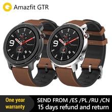 2019 Amazfit GTR 47mm akıllı saat GPS 5ATM su geçirmez 24 gün pil ömrü 12 spor modlu Bluetooth AMOLED ekran