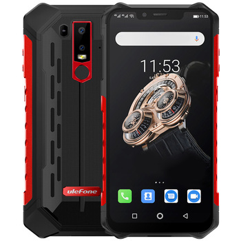 Ulefone Armor 6S 4G Smartphone 6.2 inch Android 9.0 6GB RAM 128GB ROM IP68 IP69K 16MP+8MP Rear Camera 5000mAh Mobile Phone