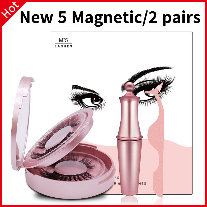 SexyGo Magnetic Eyelashes With Eyeliner Natural 3D Mink False Eyelashes Liquid Eyeliner & Tweezer Set & Waterproof Eyeliner