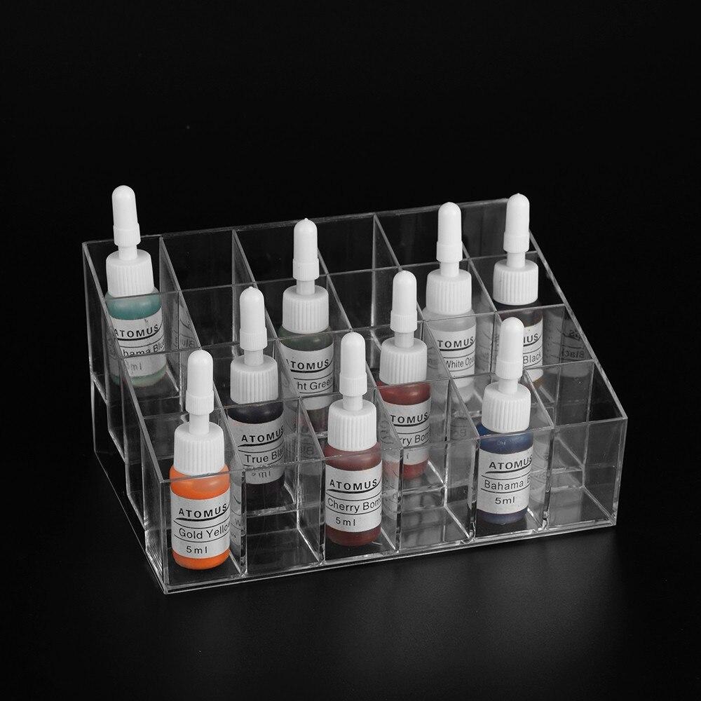 Tattoo Ink Display Stand Holder Empty Rack Acrylic Clear Cosmetic Tattoo Supplies Lipsticks Manicure Tool Organizer Storage