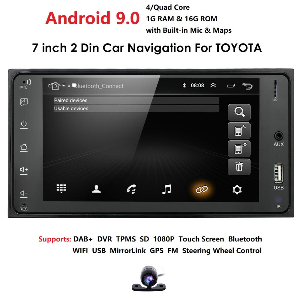 2din Android 9.0 Car Media Player For Toyota RAV4 Prado Corolla Vios Hilux Terios Vitz Avanza Land Cruiser 4Runner FJ Cruiser PC
