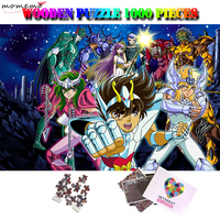 MOMEMO Saint Seiya 1000 Pieces Wooden Puzzle Cartoon Anime Jigsaw Puzzles for Adults Kids DIY Assembling Puzzle Games Nice Gifts