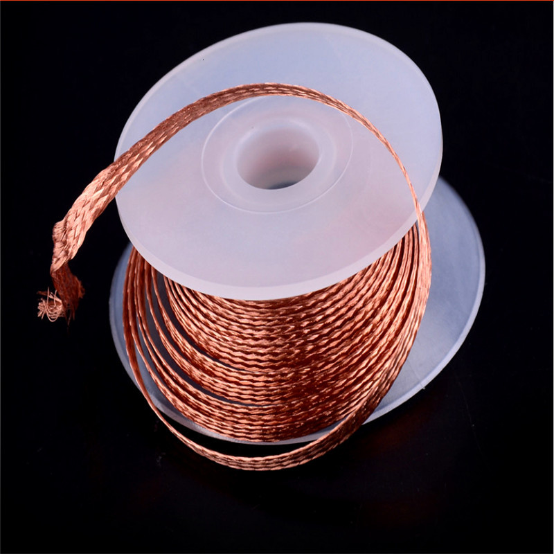 Maintenance Tin Removal Welding Tinning Line 2.0MM*1.5M Low Residue Non Clean Tin Strip Tools Desolder Braid Solder Remover Wick