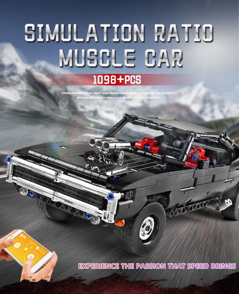 MOULD KING 13081 MOC 17750 Technic Ultimate Muscle Car Building Block (1098PCS) 1