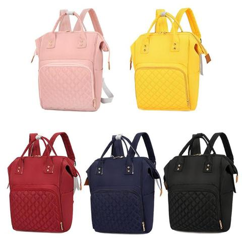 2019 NEW Fashion Diaper Bag Mommy Backpack Pure Color Mommy Travel Backpacks Large Nylon Maternity Baby Care Nursing Diaper Bags Karachi