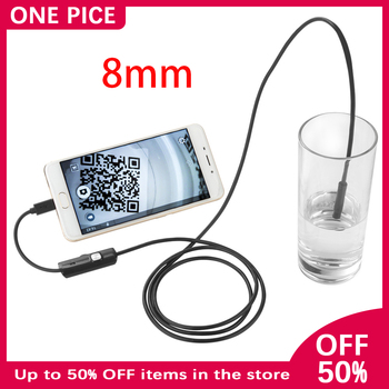 8mm Endoscope Camera 2MP 720P HD Waterproof IP67 USB Inspection Borescope Camera for Android PC 8LEDs Adjustable Car Camera NN2 antscope wifi endoscope camera android 8mm 2 0mp 720p borescope mini camera semi rigid hard tube and softwire car inspection