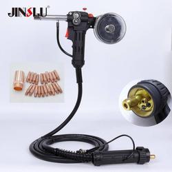 10 pies 3 metros MIG soldador carrete pistola alimentador de alambre soldador de aluminio uso carrete estándar con conexión Euro 24V CC Motor libre boquilla