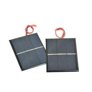 SUNYIMA 2Pcs Solar Panels DIY Flexible Solar Panel Energy Epoxy Plate With Wires 0.65W 1.5V 60x80x3MM Panneau Solaire