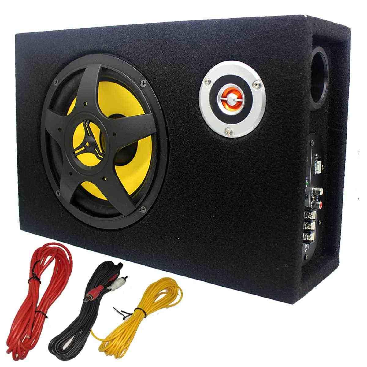 8 pouces 480W sous-siège voiture caisson de basses modifié haut-parleur stéréo Audio amplificateur de basse caissons de basses voiture Audio Auto haut-parleurs
