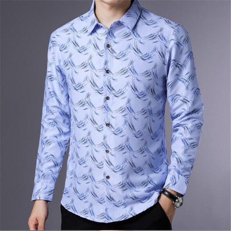 ZNG Shirt Men Clothing 2018 Autumn New Arrivals Slim Fit Business Casual Shirts
