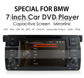 AutoRadio 1Din Car DVD Player for BMW E46 M3 Rover 75 1999-2005 GPS Sedan Navigation SWC RDS DVBT DAB+ Touch Screen Stereo Radio image