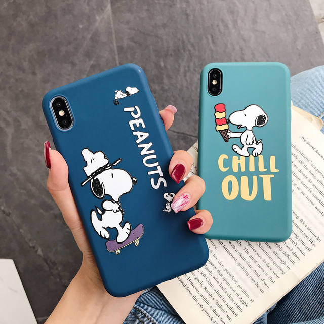 Cartoon Cute Peanut comic Dog Case for iphone
