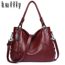 Classic Brand Tassel Ladies Hand Bags For Women Designer Handbags High Quality Leather Luxury Handbags Women Shoulder Bags Bolsa cheap KMFFLY Shoulder Crossbody Bags Genuine Leather Sheepskin Casual Tote Silt Pocket 3412 Polyester Single Versatile zipper