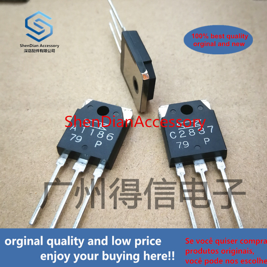 2pairs 100% Orginal New 2SA1186 2SC2837 1186 2837 Amplifier Tube  Real Photo