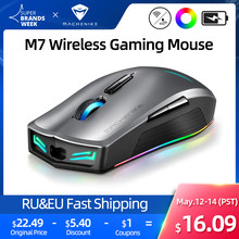 Machenike – souris Gaming sans fil M7, 16000 DPI, rvb, Programmable, Rechargeable, PMW3212 PMW3335