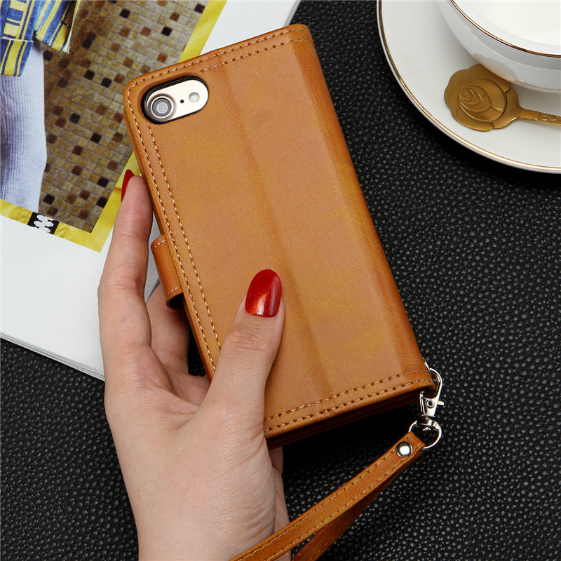 Multi-functional Leather Case for iPhone 6 6S 7 8 Plus 11 Pro XS Max X XR Coque Wallet Phone Cases for Samsung S20 Ultra Cover