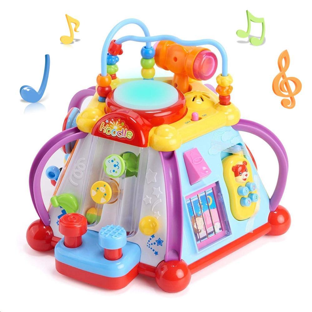 Educativos bebé niño niños juguete centro de actividad Musical jugar cubo con 15 funciones y habilidades de aprendizaje juguetes educativos, regalos