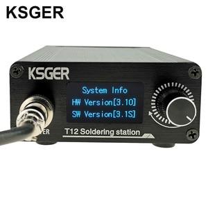 Image 2 - KSGER Estación de soldadura T12, herramientas de bricolaje STM32 V3.1S OLED, puntas de hierro T12, mango de aleación de aluminio 907, soporte de Metal, calor rápido