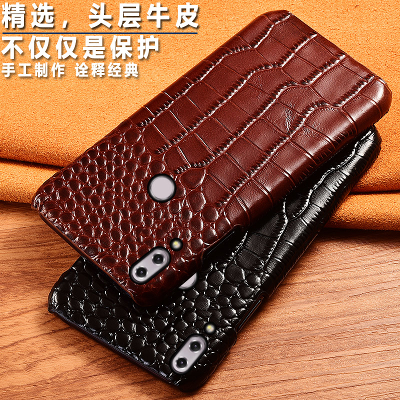 Top Genuine Cow leather Phone Back Case Cover For <font><b>ASUS</b></font> <font><b>Zenfone</b></font> <font><b>5</b></font> <font><b>ZE620KL</b></font> ZC600KL ZB555KL Crocodile Grain Case Luxury Cover image