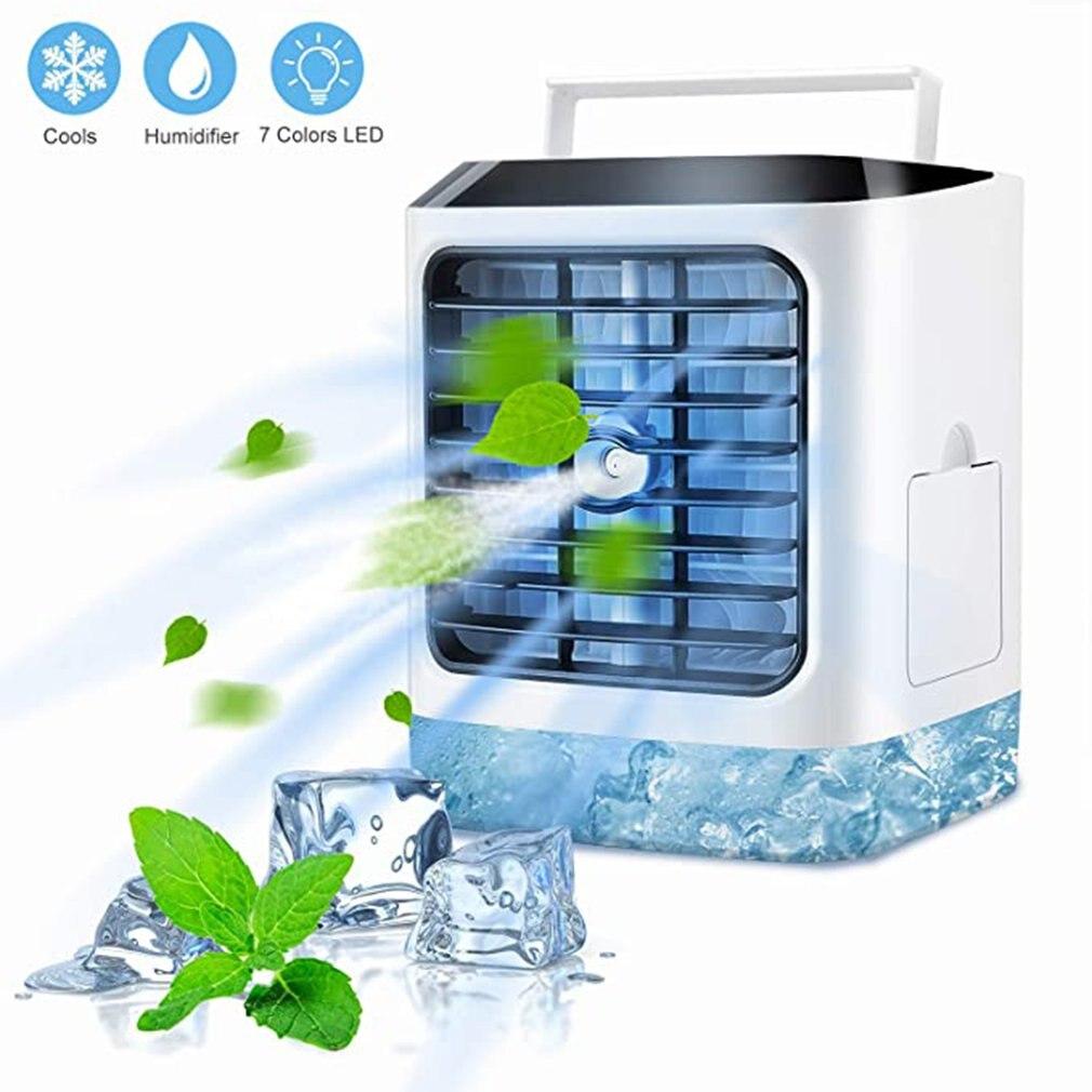 Mini USB taşınabilir HAVA SOĞUTUCU Fan klima 7 renk işık masaüstü hava  soğutma fanı nemlendirici arıtma ofis yatak odası için|HVAC Sistemleri ve  Parçaları