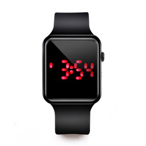 Fashion Led Digital Watches Men Square LED Electronic Watches Silicone Watches Couple Relogio Masculino Dropshipping Cheap Price