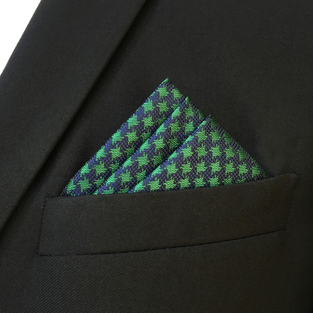 Купить fh24 зеленого и синего цвета с рисунком «гусиные лапки» мужской