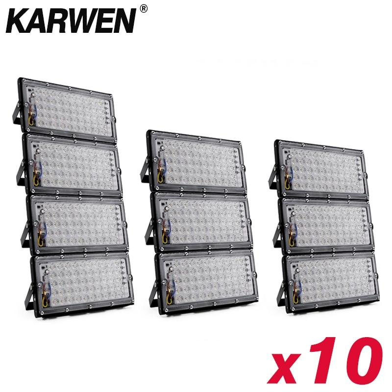 Reflector LED de 50W, 220V, 240V, CHIP de proyector IP65, Reflector de pared exterior resistente al agua, iluminación cuadrada de jardín, Reflector blanco frío Reflectores    - AliExpress