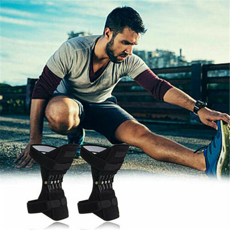 Joint Support Knee Pad Knee Patella Strap Breathable Non-Slip Power Lift Spring Force Knee Booster Tendon Brace Band Knee Sleeve