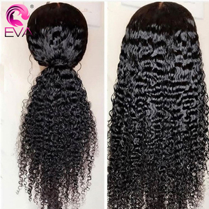 Image 3 - Eva Hair 360 Lace Frontal Wig Pre Plucked With Baby Hair Brazilian Curly Lace Front Human Hair Wigs For Black Women Remy Hair